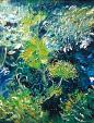 verde e blu - mario fanconi - Olio