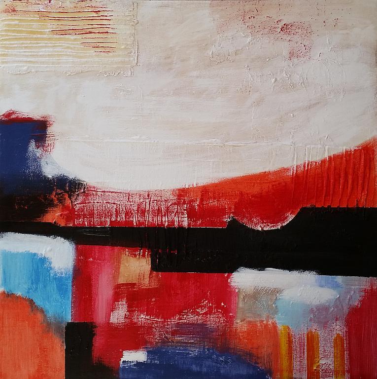 Astratto con  rosso - aliz polgar - mista
