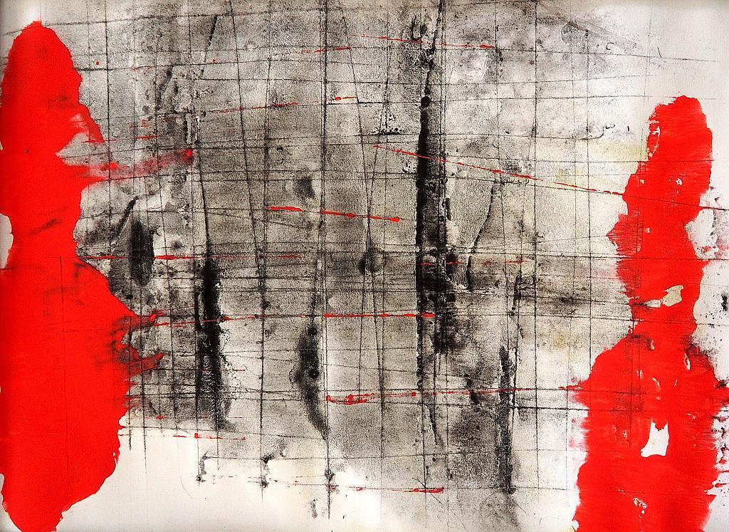 Dentro i confini - Massimo Di Stefano - mista su cartoncino - 150 €