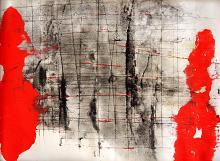 Dentro i confini - Massimo Di Stefano - mista su cartoncino
