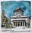 Grant,s Tomb - Lucio Forte - Watercolor - 70 euro