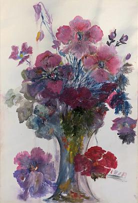 Libera interpretazione di fiori - Letizia Belluigi - Acquerello - 480 €