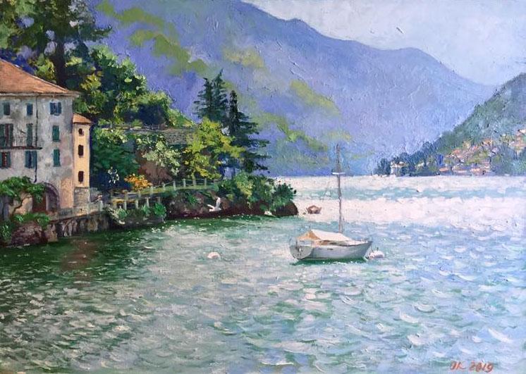 Lago di Como - Olga Kozhanova - Olio - 200 €