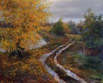 Autunno - Olga Maksimova - Olio