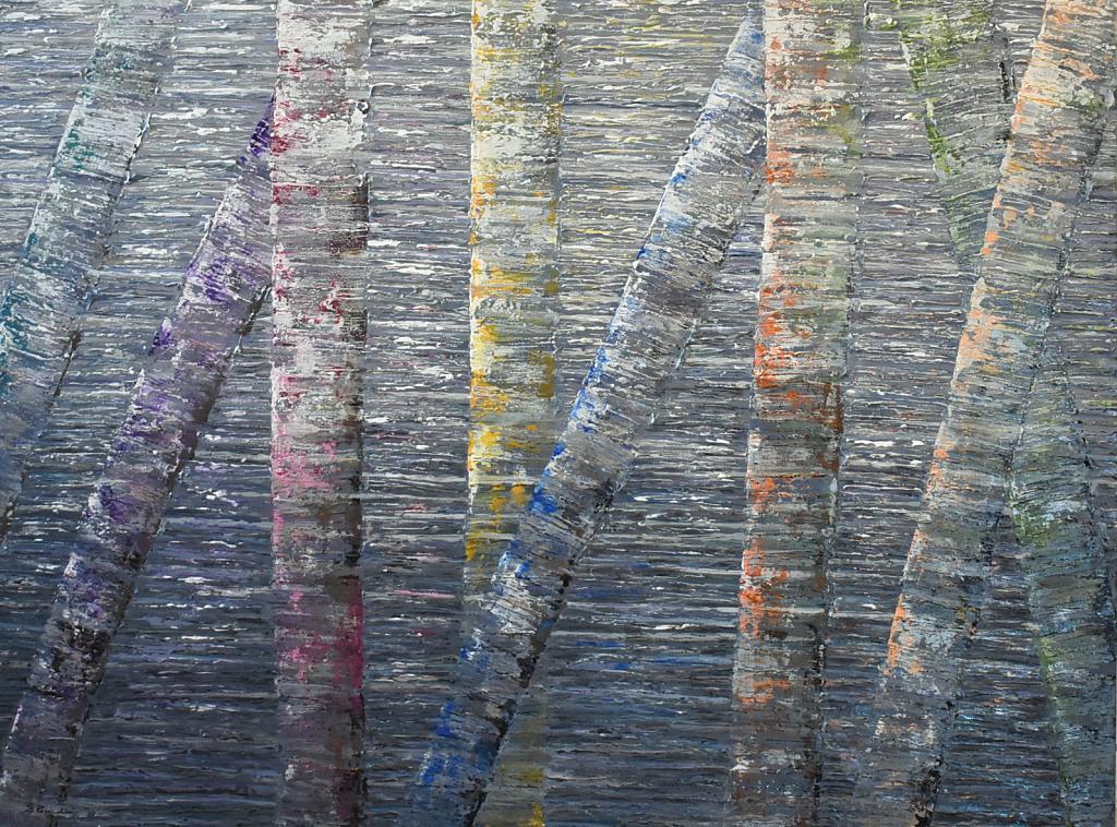 BIRCH TREE REFLECTION - Daniela Pasqualini - Acrilico