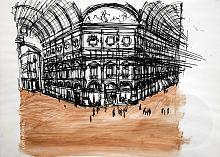 Galleria - Lucio Forte - Pennino a china su carta - €