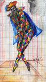 arlecchino - daniele rallo - pastelli - 10€