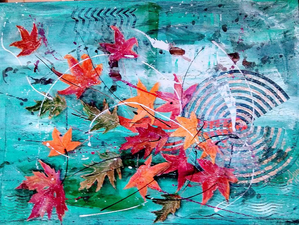 Come foglie al vento... - anna casu - Acrilico