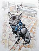 French Bulldog - Lucio Forte - Acquerello - €
