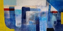 Geometric on blue  - aliz polgar - mista - 220€