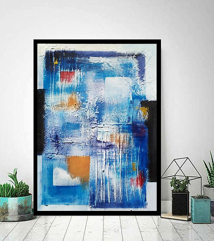 Abstract vision on  blue - aliz polgar - mista - 180 €