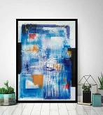 Abstract vision on  blue - aliz polgar - mista - 180€