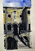 Palladio, Villa Godi - Lucio Forte - China, acquerello, acrilico su carta - 89€