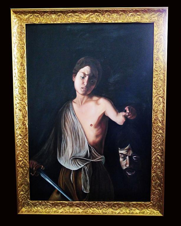 Caravaggio Davide Golia - Mauro Roberto - Olio - 1400 €