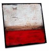 Rustico sul beige e rosso - aliz polgar - mista - Venduto!
