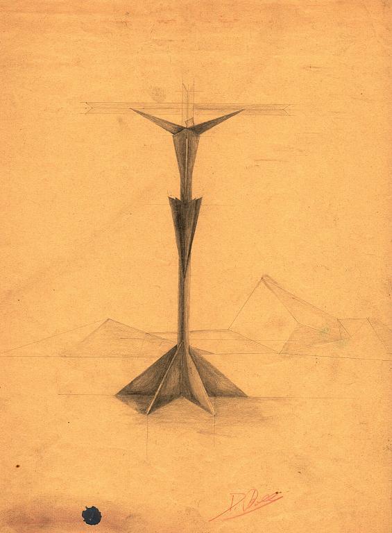 cristo metafisico -bozza- - daniele Rallo  - matita - 50 €