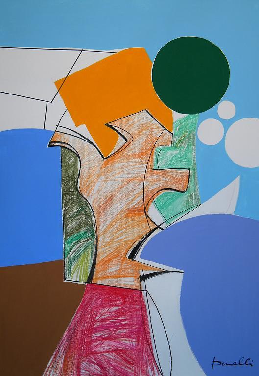 Paesaggio - Gabriele Donelli - Pastello e acrilico - 400 €