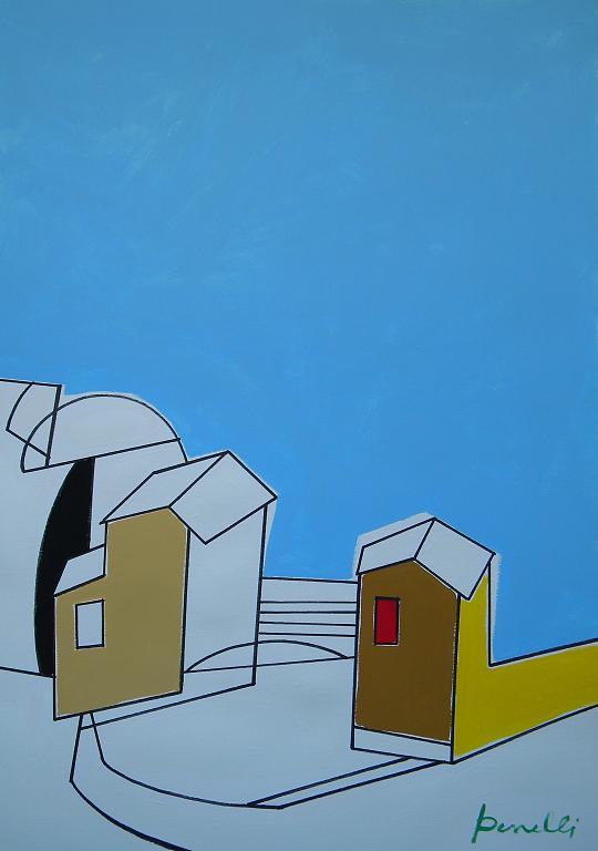 Paesaggio con la neve - Gabriele Donelli - Acrilico - 1400 €