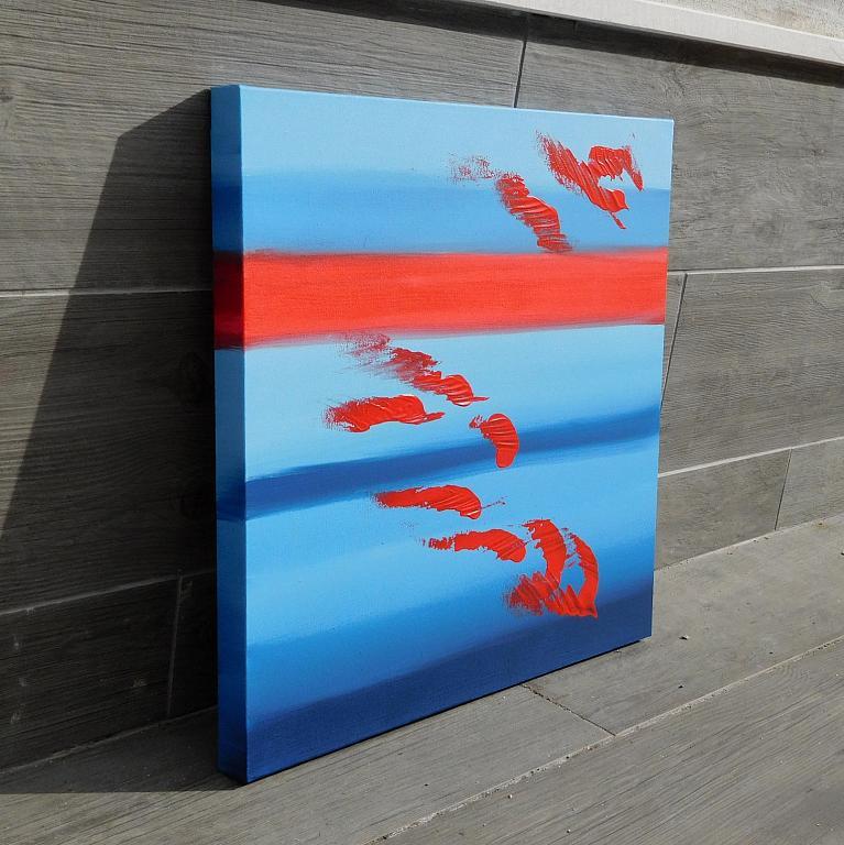 Red and blues, 50x50 cm - Davide De Palma - Acrilico - 150 €