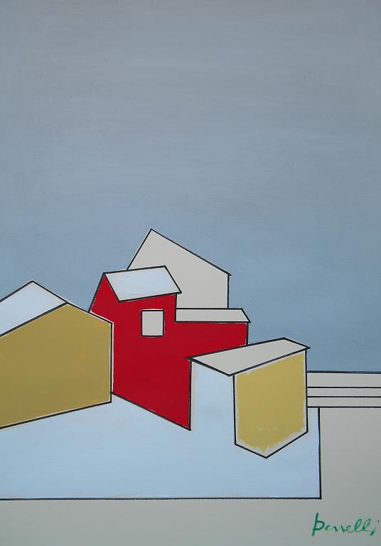 Paesaggio con la neve - Gabriele Donelli - Acrilico - 300 €