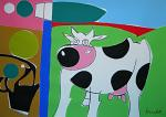 Paesaggio con la mucca - Gabriele Donelli - Acrilico - 400€