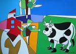 Paesaggio con la mucca - Gabriele Donelli - Acrilico - 1400 euro