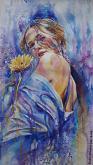 Quel fiore giallo  - Ruzanna Scaglione Khalatyan - Acquerello