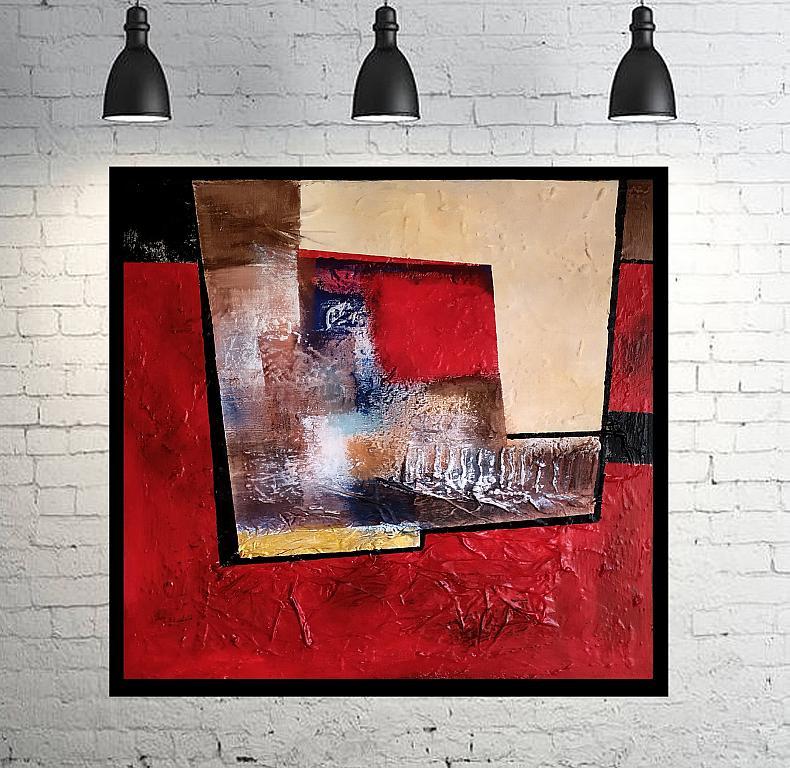 Abstract vision on  red - aliz polgar - mista