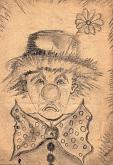 clown - daniele rallo - matita - 50€