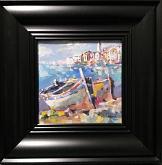 Paesaggio con barche - Silvia Tschauschev - Tempera - 100€