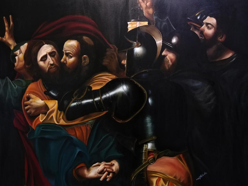 CARAVAGGIO La cattura di Cristo - Mauro Roberto - Olio - 1600 €