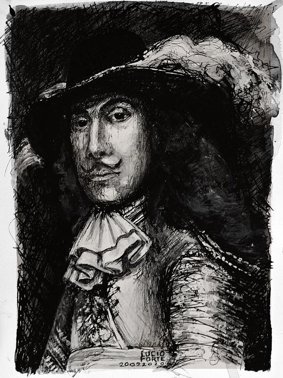Rembrandt, Frederick Rihel - Lucio Forte - China, acquerello, acrilico su carta - 130 €