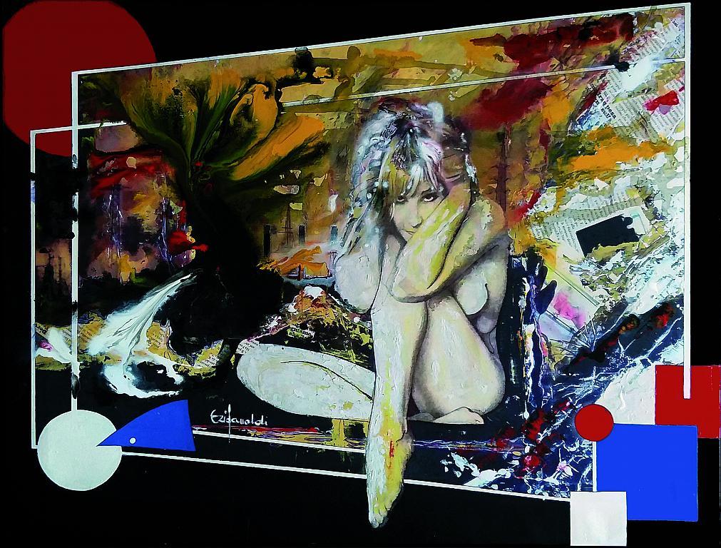 CAOS, presa di coscienza - Ezio Ranaldi - mista su tela - 2600 €