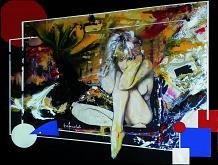 CAOS, presa di coscienza - EZIO  RANALDI - mista su tela