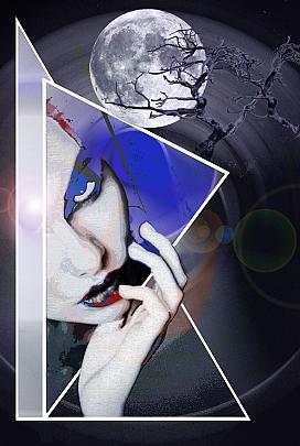 Solo la luna conosce i nostri segreti-stampa retro plexi - EZIO  RANALDI - Digital Art - 600 €