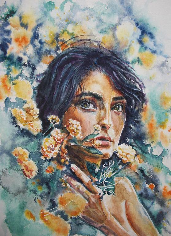 Ritratto artistico - Ruzanna Scaglione Khalatyan - Acquerello