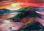 Paesaggio Greco - Dalido Gino Marini - Acrilico