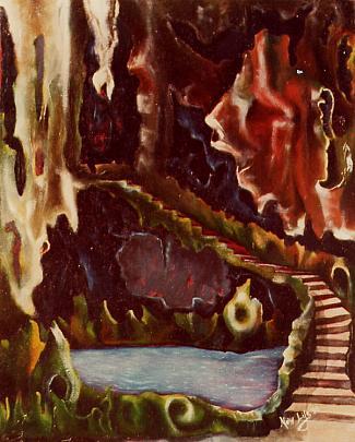 lago in grotta - daniele Rallo  - Olio - 350 €