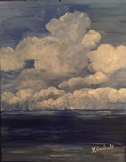 Il cielo e il mare sono li comunque - FABIO CARDINALI - Acrilico - 85 €
