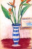 fiori esotici - mario fanconi - Pastelli