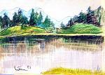 oasi di pace - mario fanconi - Pastelli