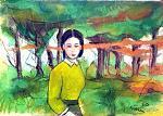 passeggiare nel bosco - mario fanconi - Pastelli