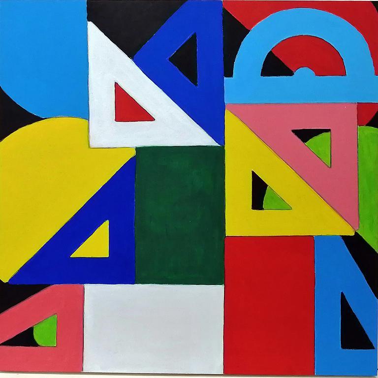 Serie giochi geometrici - Pietro Dell Aversana - Acrilico - 65 €