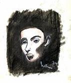 volto d'uomo - mario fanconi - Carboncino