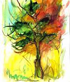 albero - mario fanconi - Olio