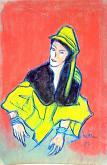 donna stravagante  - mario fanconi - Pastelli