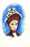 che bel cappello - mario fanconi - Pastelli