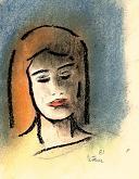 donna maliziosa - mario fanconi - Pastelli