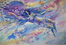 Vieni a volare con me - Ruzanna Scaglione Khalatyan - Acquerello