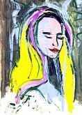 donna misteriosa - mario fanconi - Olio